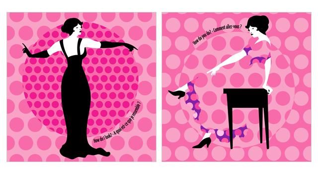 pop-up postcard series