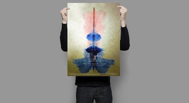 the science of design: the rorschach inkblot test poster series