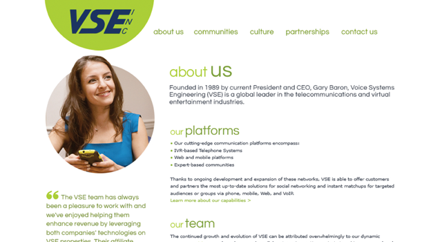 voice systems engineering (vse, inc) website