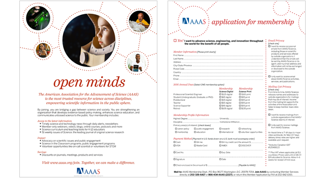 american association for the advancement of science application