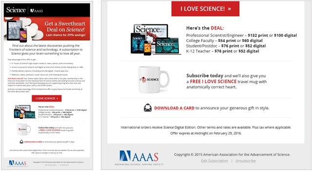 american association for the advancement of science eblast